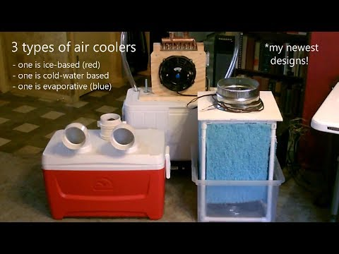 DIY AC Air Coolers!  My Newest for 2019!  3 types: {ice-based} {cold-water based} {evaporative}