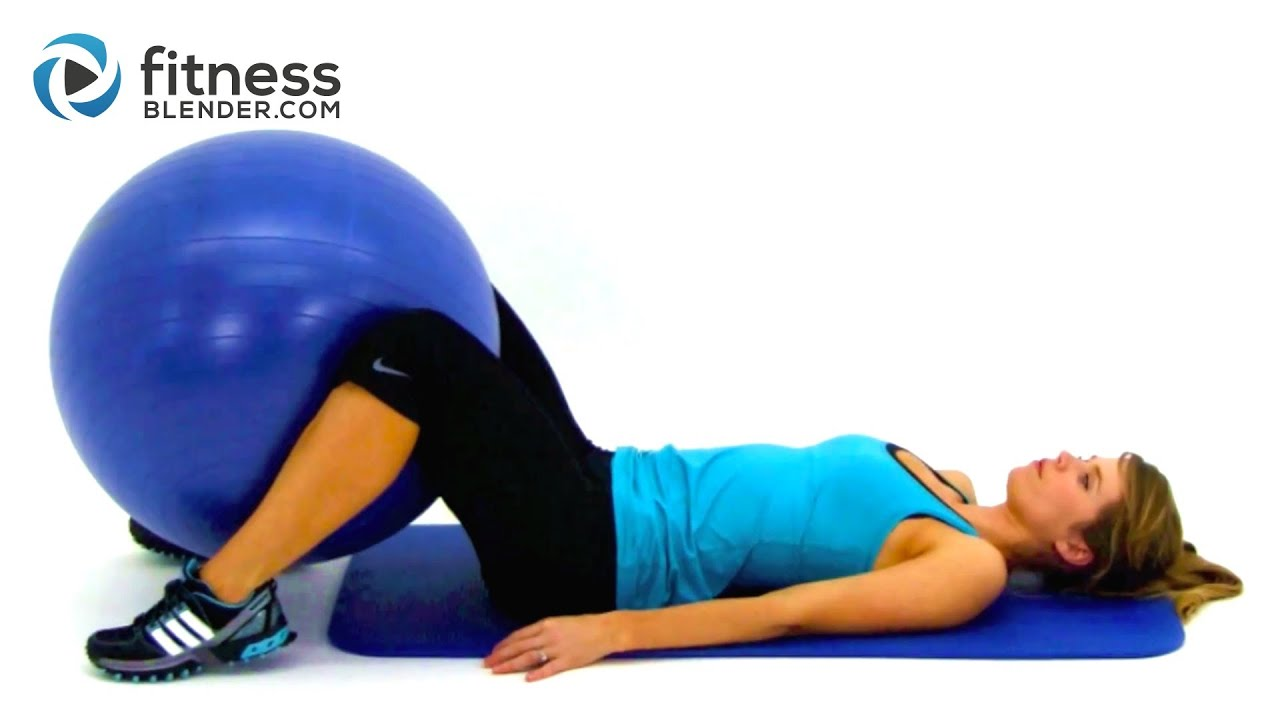 Total Body Exercise Ball Workout Video – Express 10 Minute Physioball Workout Routine