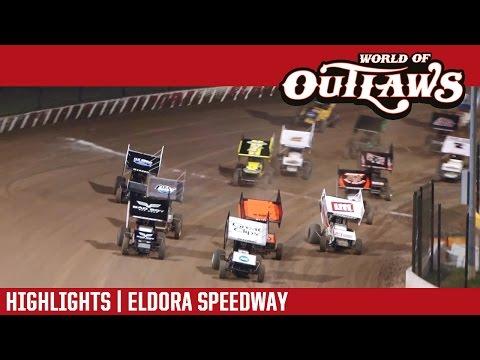 World of Outlaws Craftsman Sprint Cars Eldora Speedway September 23rd, 2016 | HIGHLIGHTS - dirt track racing video image