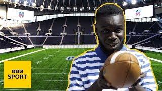 Behind-the-scenes at Tottenham Hotspur Stadium's NFL makeover | BBC Sport