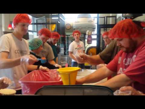 Local residents prepare meals
