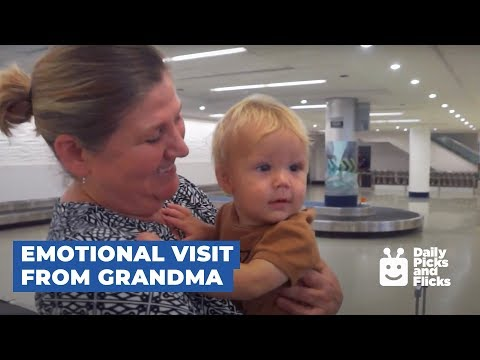 Grandma Surprise Visits Grandkids