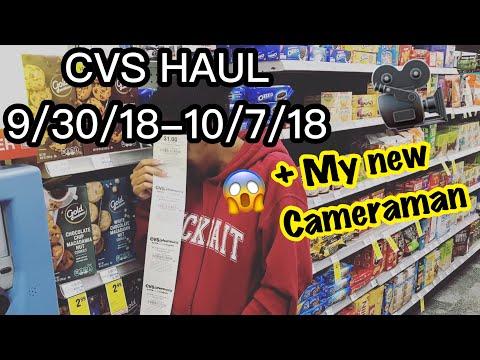 CVS HAUL 10/3/18 In-Store + My NEW Cameraman 📷❤️