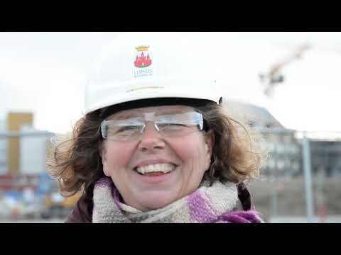 Följ med Anna till spårvägsbygget i Brunnshög