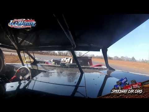 #40 David Culver - 604 Crate Late Model - Ice Bowl 2021 - Talladega Short Track - In-Car Camera - dirt track racing video image