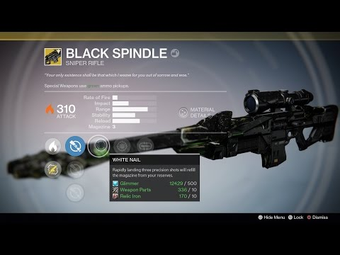"""Destiny: How to """"Easily"""" Get the Black Spindle Exotic - UCKy1dAqELo0zrOtPkf0eTMw"""