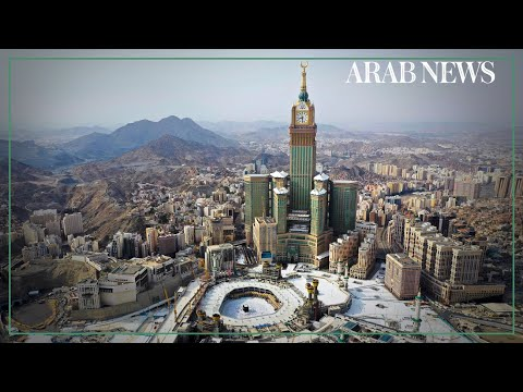 AERIAL SHOTS of Muslim pilgrims circumambulating Makkah's Kaaba