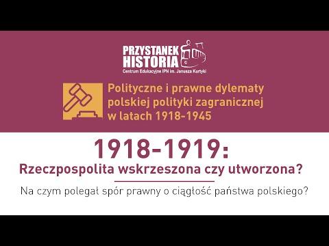 Rzeczpospolita 1918-1919 – państwo utworzone czy odrodzone❓ [DYSKUSJA]
