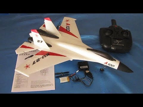SU-27 XK A100 Three Channel RC Airplane Flight Test Review - UC90A4JdsSoFm1Okfu0DHTuQ