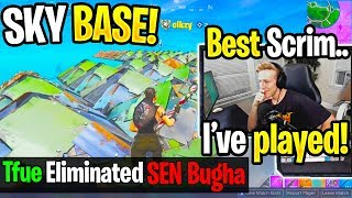 TFUE TRIO *DESTROY* BUGHA then SPECTATE *FUNNIEST* SKY BASE in PRO SCRIMS! (Fortnite)