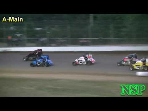 June 30, 2017 Brownfield Classic Nw Focus Midgets A-Main Grays Harbor Raceway - dirt track racing video image