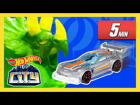 Gator Car Wash and Giant Triceratops Madness in Hot Wheels City!   Hot Wheels City   Hot Wheels