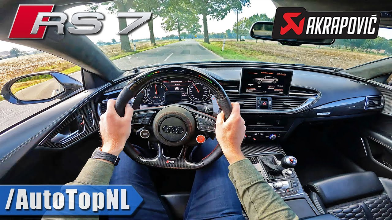 AUDI RS7 605HP *AKRAPOVIC DOWNPIPES* LOUD POV by AutoTopNL