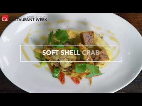 dineL.A. Restaurant Week – Soft Shell Crab with California Avocado by David LeFevre of M.B. Post