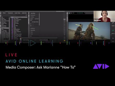 """Avid Online Learning — Media Composer: Ask Marianne """"How To"""""""