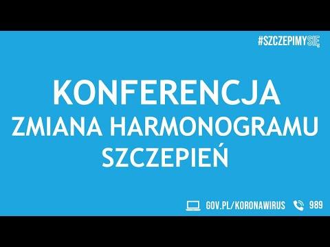 Konferencja prasowa - zmiana harmonogramu szczepień