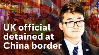 Hong Kong: UK consulate worker detained at China border