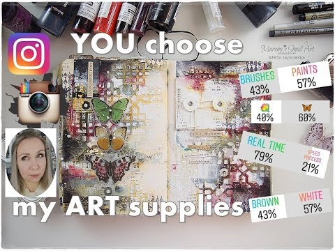 My INSTAGRAM Followers Choose My Art Journal Supplies ♡ Maremi's Small Art ♡
