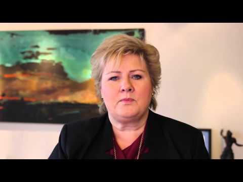 Kleven 100 år - helsing frå statsminister Erna Solberg
