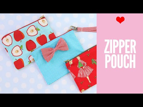 How to Make a Zipper Pouch   With Lining