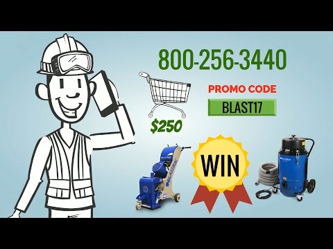 Blastrac Giveaway Promotion - 1-8DM and BDC1216