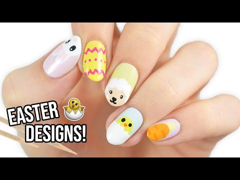 Easter Nail Art For Beginners Using A TOOTHPICK!
