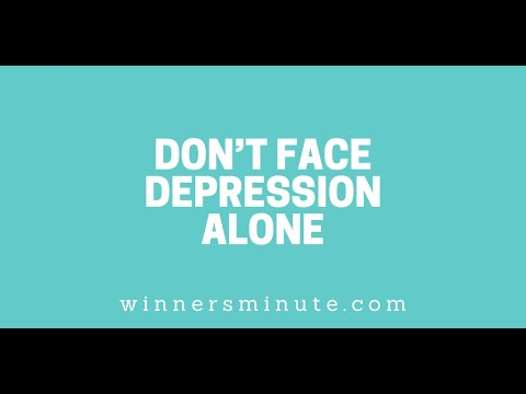 Dont Face Depression Alone // The Winner's Minute With Mac Hammond