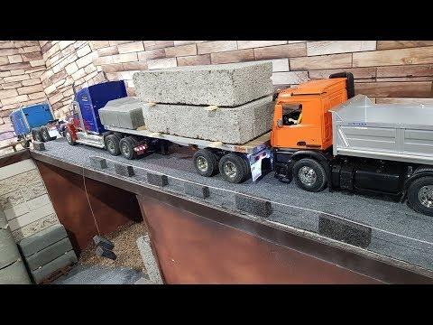 ТЯЖЕЛЫЙ ГРУЗ ... Перевозка с помощью 3-х RC грузовиков и погрузчика. Tamiya trucks - UCX2-frpuBe3e99K7lDQxT7Q