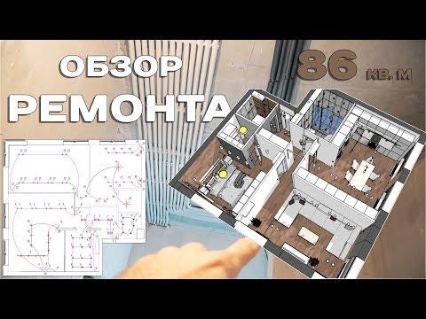 Обзор современного ремонта 86 кв. м | Инженерный этап photo