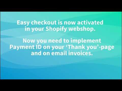 Hvordan installere Easy Checkout i Shopify webshop