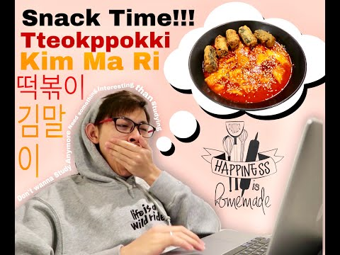 Vlog 15 Study break Snack Making (떡볶이 & 김말이)