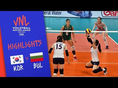 KOREA vs. BULGARIA - Highlights Women | Week 4 | Volleyball Nations League 2019
