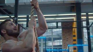 Athlete Rope Climbing Stock Video