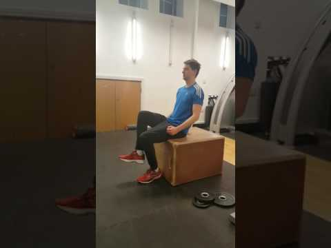 One leg squats for balancing leg strength out