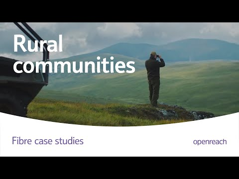 Scottish rural community connects to faster fibre broadband