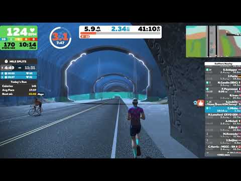 Zwift Running Demonstration Dec 5 2019