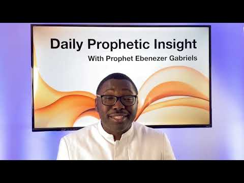 Prophetic Insight - January 26th, 2021