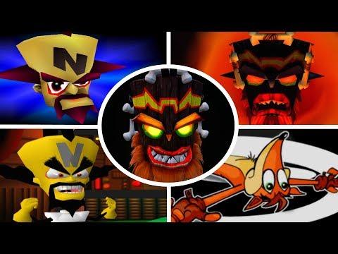Evolution of Game Over Screens in Crash Bandicoot Games (1996-2017) - default