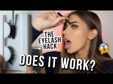 VIRAL MAKEUP HACK: Turn ANY Cheap Lash Into An EXPENSIVE AF WISPY | DOES IT WORK!""