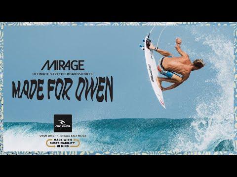 Salt Water Culture | Owen Wright Mirage Salt Water Boardshort | Rip Curl Made For Waves 2019