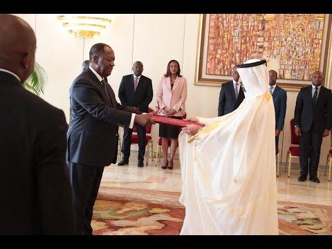 Le Président Alassane OUATTARA a reçu les Lettres de créance de cinq nouveaux Ambassadeurs