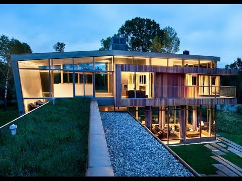 Contemporary House with Wooden Skin and Beautiful RIverside Landscape
