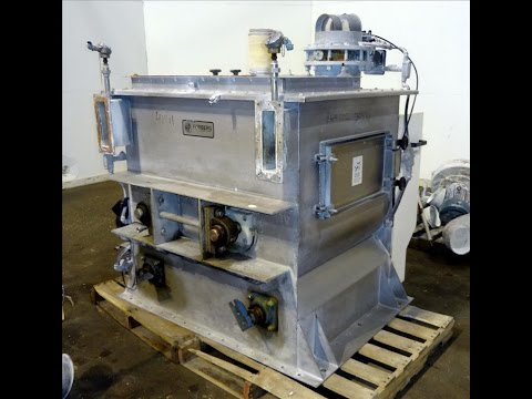 Used- Dynamic Air Forberg Twin Shaft Fluidizer - stock # 46441002