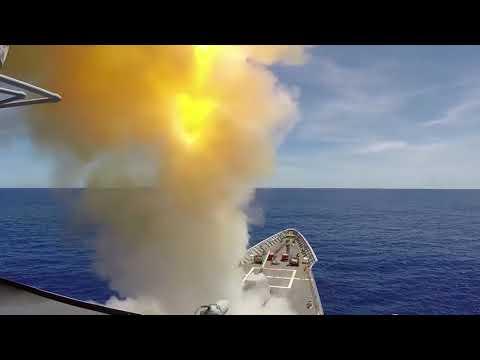 DFN: USS Antietam launches SM-2 missile, PHILIPPINE SEA, 03.17.2018
