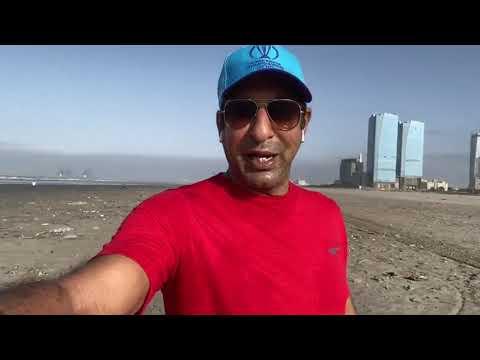 Waseem Akram On Karachi Beach