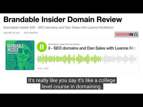Leanne McMahon on the Brandable Insider Podcast with Keith DeBoer Discussing DNAcademy (Excerpt)