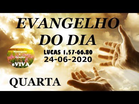 EVANGELHO DO DIA 24/06/2020 Narrado e Comentado - LITURGIA DIÁRIA - HOMILIA DIARIA HOJE
