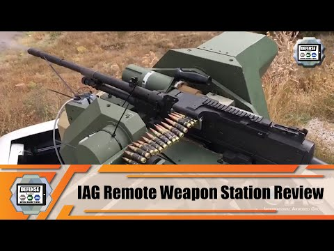 IAG company based in UAE launches its new TLC200 RWS Remote Weapon Station for armored vehicles