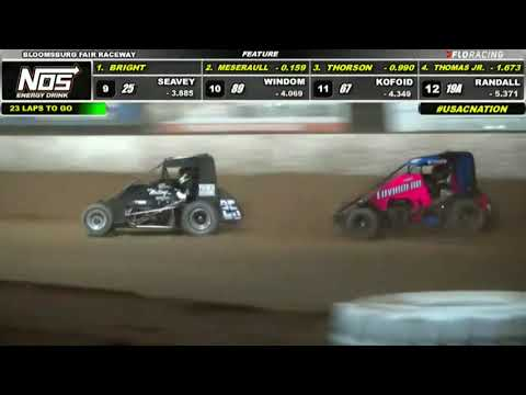 HIGHLIGHTS: USAC NOS Energy Drink National Midgets   Bloomsburg Fair Raceway   8/6/2021 - dirt track racing video image
