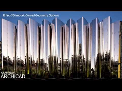 ARCHICAD 20 - Rhino 3D Import - Curved Geometry Options